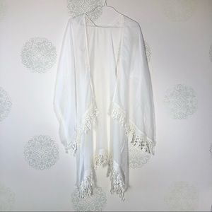 Sheer White Cover Up